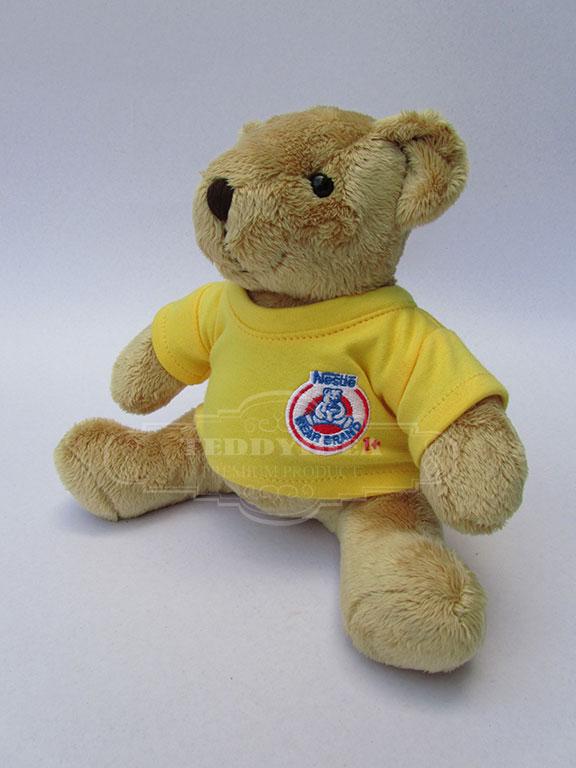 ตุ๊กตาพรีเมี่ยม ตุ๊กตาหมีนั่ง ขนาด 7 นิ้ว ผ้าEF